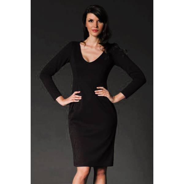 FIGL дамска къса рокля с дълъг ръкав
