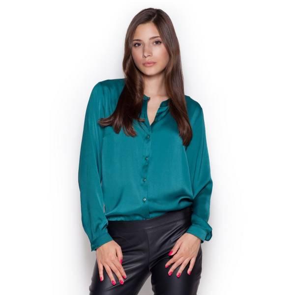 FIGL дамска риза с дълъг ръкав и столче яка