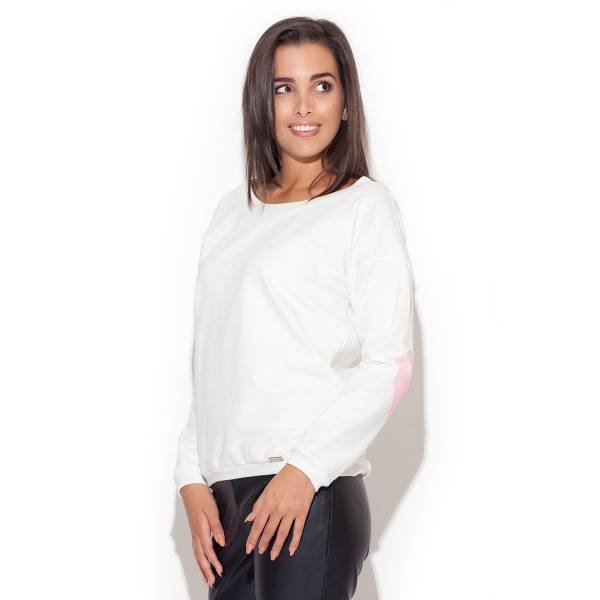 KATRUS дамска блуза с дълъг ръкав и обло деколте