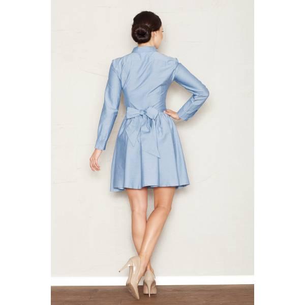FIGL дамска рокля с яка и колан