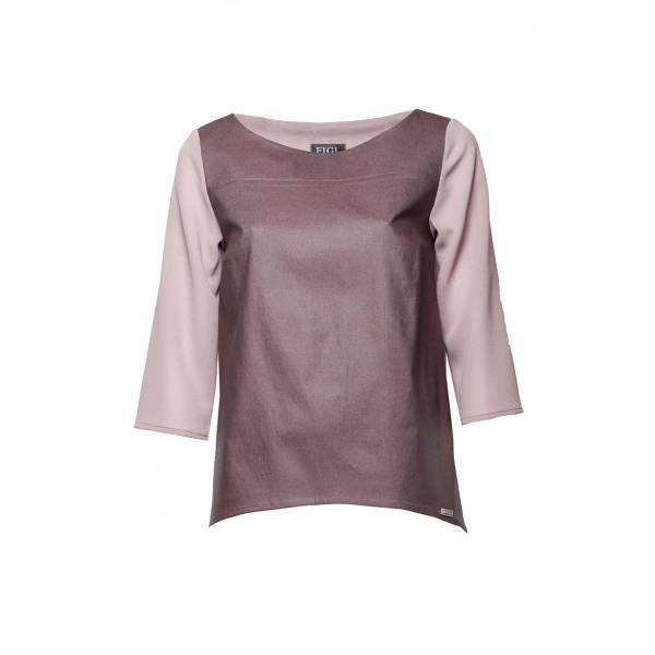 FIGL дамска блуза със 7/8 ръкав и обло деколте