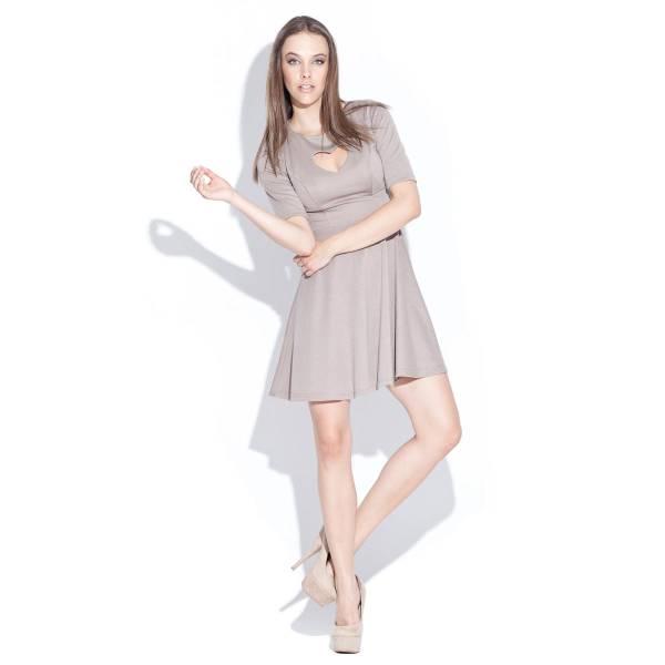 KATRUS дамска рокля с разкроена долна част