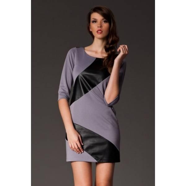 FIGL дамска къса рокля със 7/8 ръкави