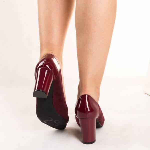 MATAR дамски елегантни обувки със средно висок дебел ток