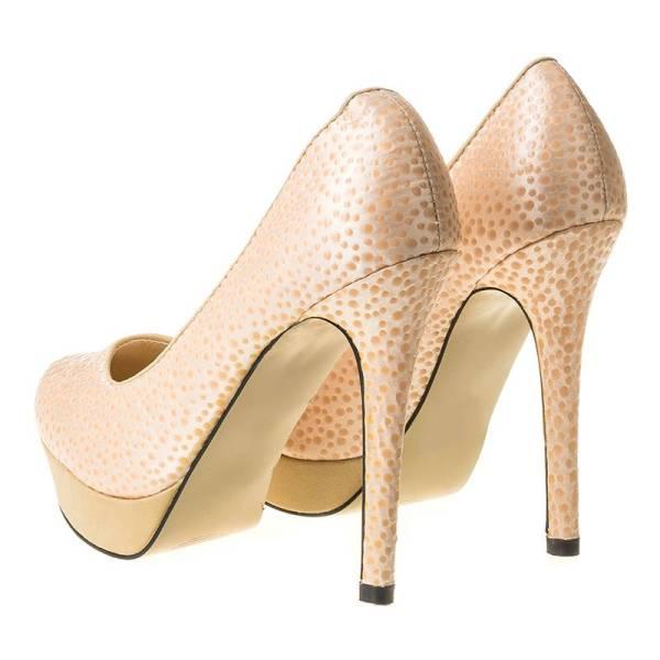MATAR дамски обувки с висок ток и платформа