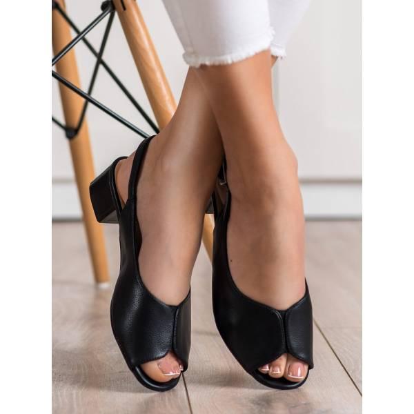 SERGIO LEONE дамски сандали с нисък ток