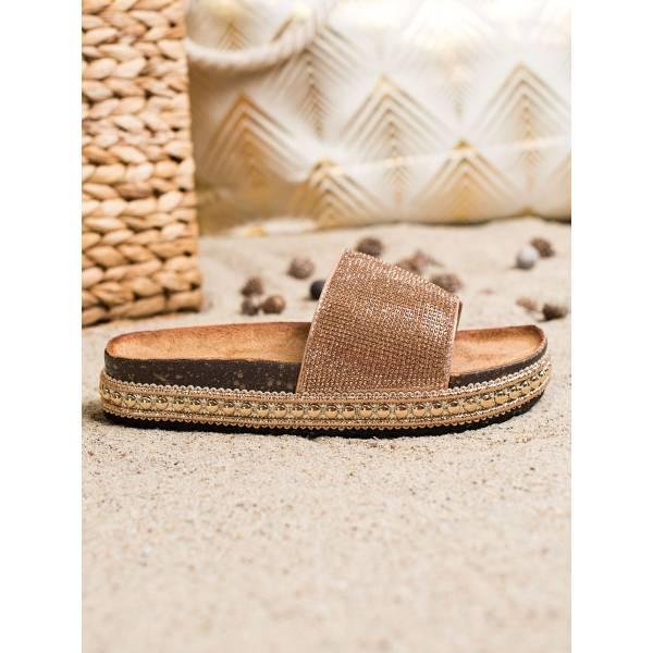 SHELOVET дамски чехли с камъни