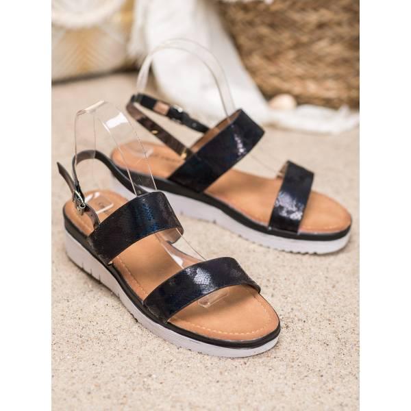 SMALL SWAN дамски сандали с ниска платформа