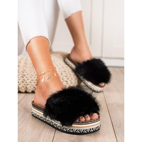 SEASTAR дамски модерни чехли с пух