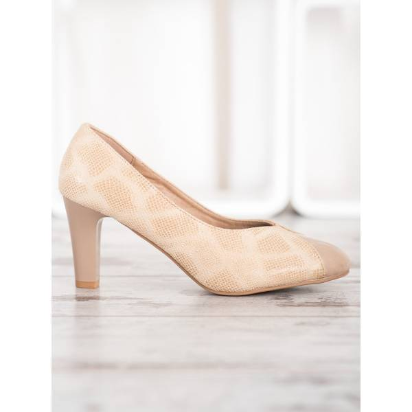 KYLIE велурени обувки с ток