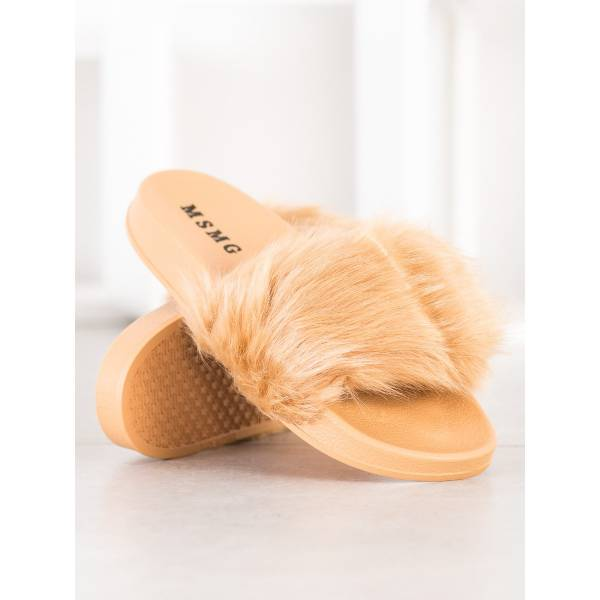 SHELOVET дамски чехли с пух