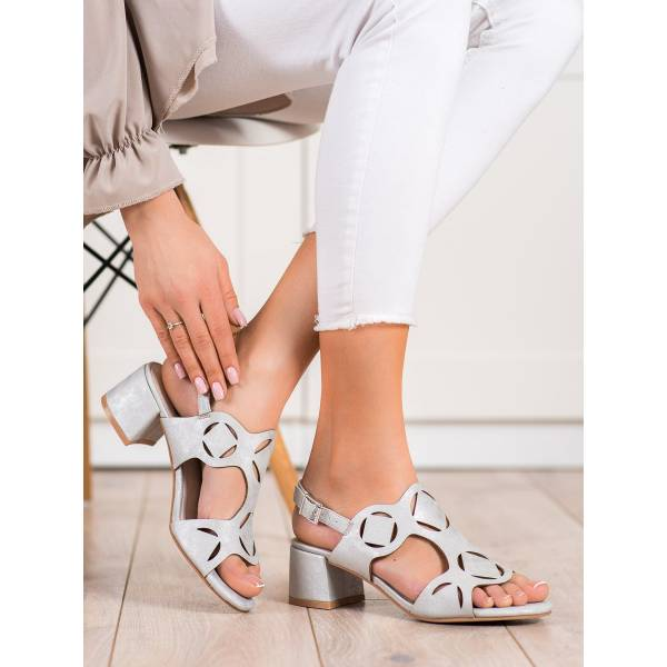 KYLIE дамски сандали на средно висок ток