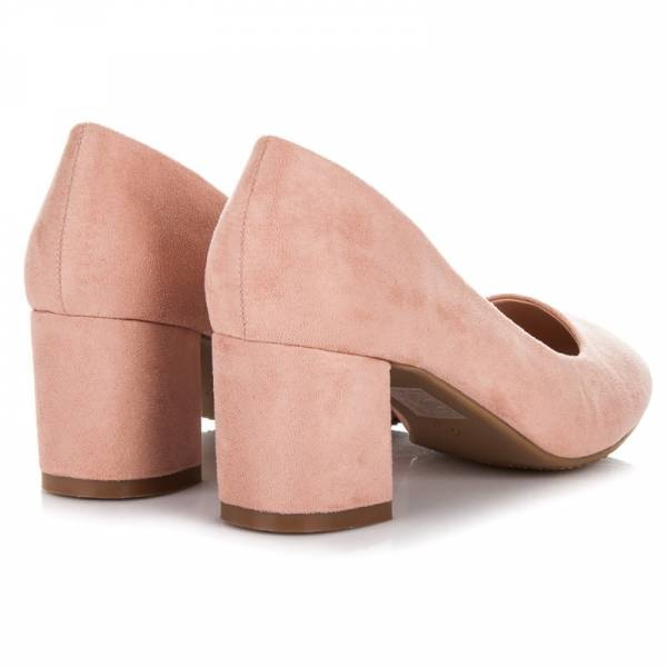FAMA дамски елегантни обувки с дебел ток