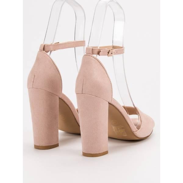 SEASTAR дамски сандали с дебел ток и каишки