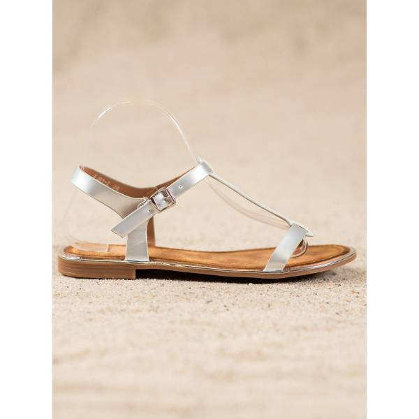 SMALL SWAN дамски сандали с равна подметка