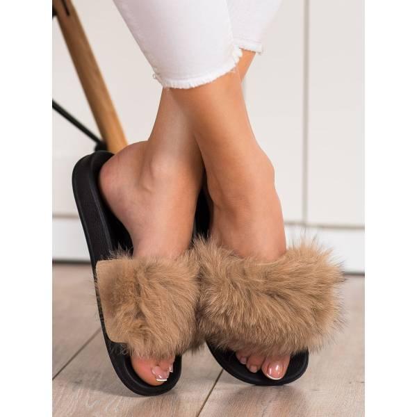 BONA дамски модерни чехли с пух