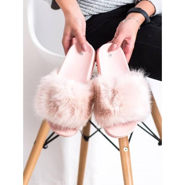 SHELOVET дамски модерни чехли с пух