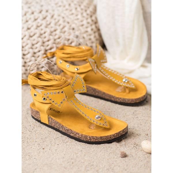 SEASTAR дамски ниски сандали с връзки