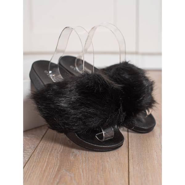 EVENTO дамски чехли с пух