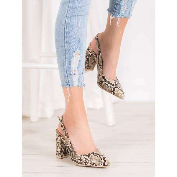 COMER дамски елегантни обувки с отворена пета
