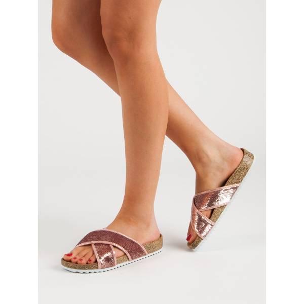 KYLIE дамски чехли с ниска платформа