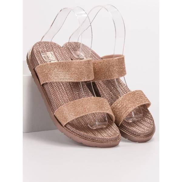 EXQUILY дамски чехли с ефектен дизайн