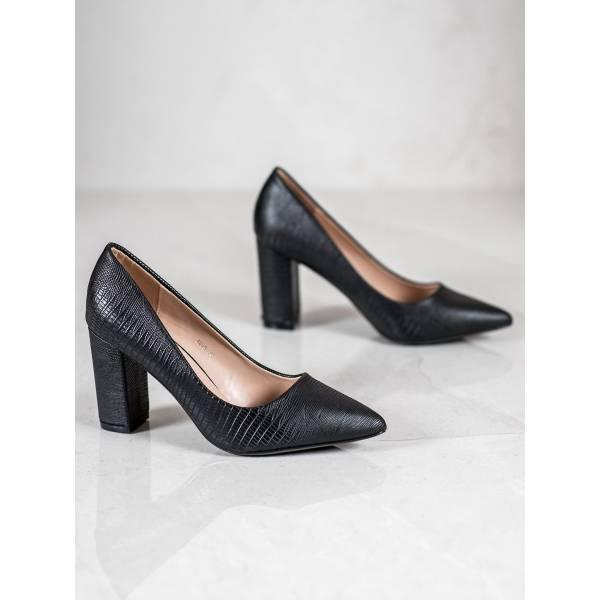 DIAMANTIQUE дамски елегантни обувки с дебел ток