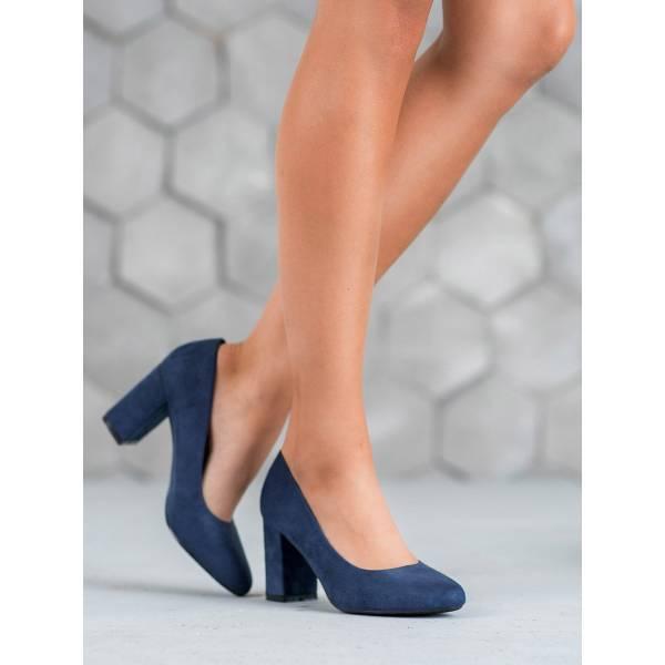 CH. CREATION дамски велурени обувки с ток