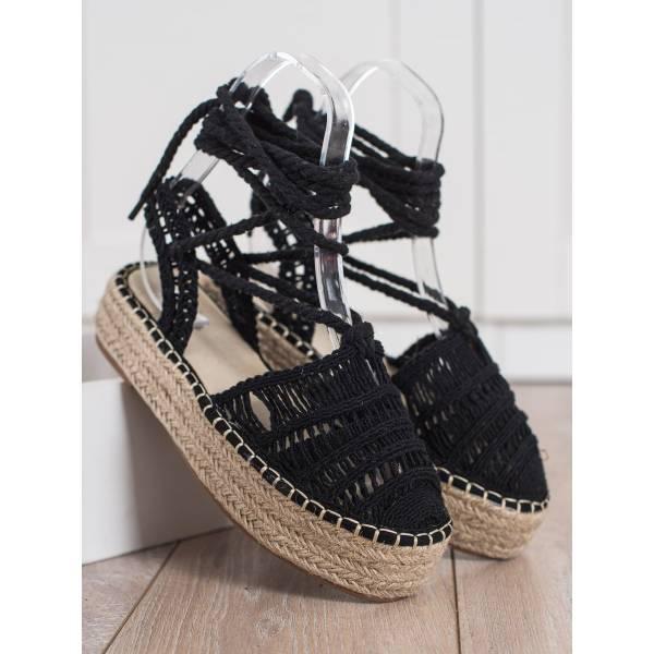 SMALL SWAN дамски плетени сандали