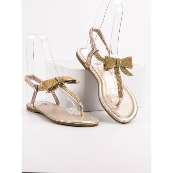 COMER дамски ниски сандали с разделител между пръстите