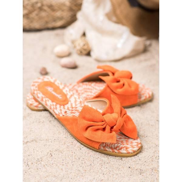 RENDA дамски модерни чехли с панделка