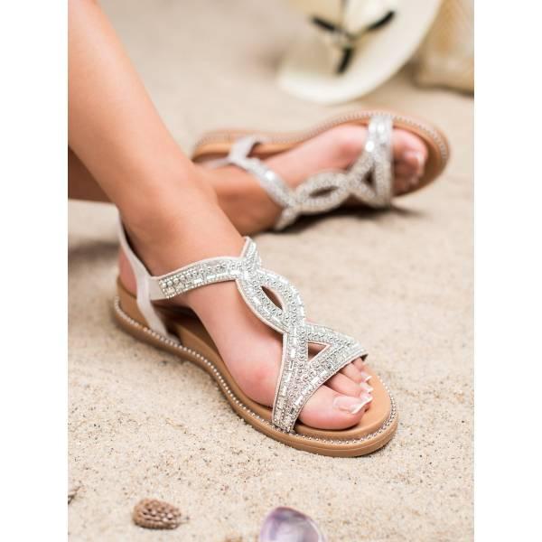BELLO STAR дамски ниски сандали с камъни