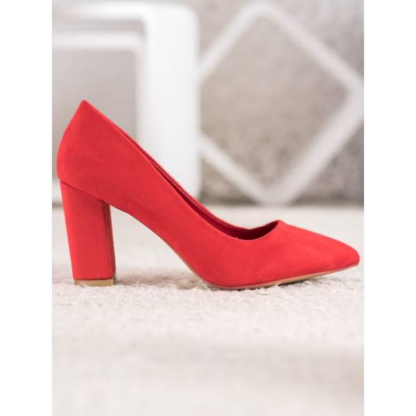 SHELOVET велурени обувки с ток