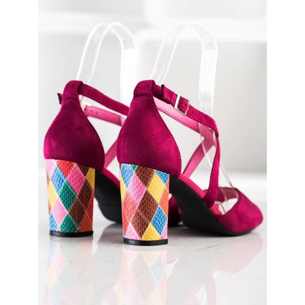 SERGIO LEONE дамски сандали с ток