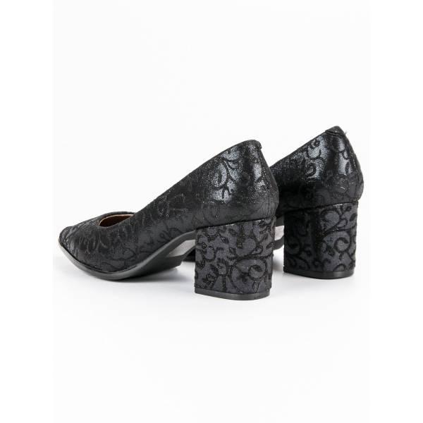 KYLIE дамски елегантни обувки със средно висок дебел ток