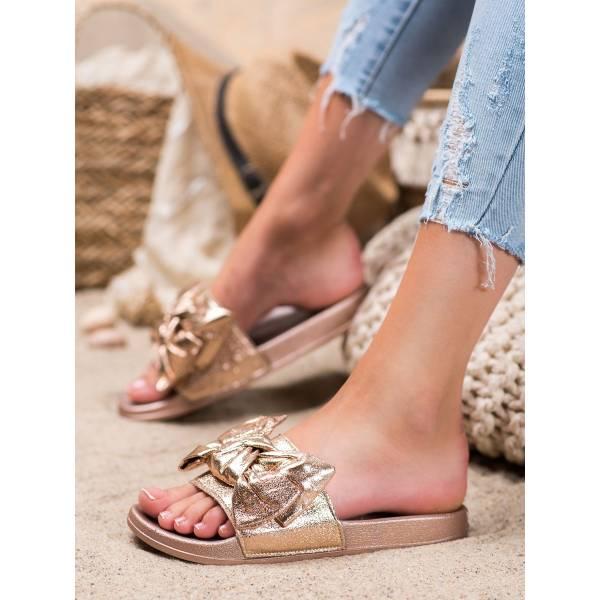 SHELOVET дамски модерни чехли с панделка