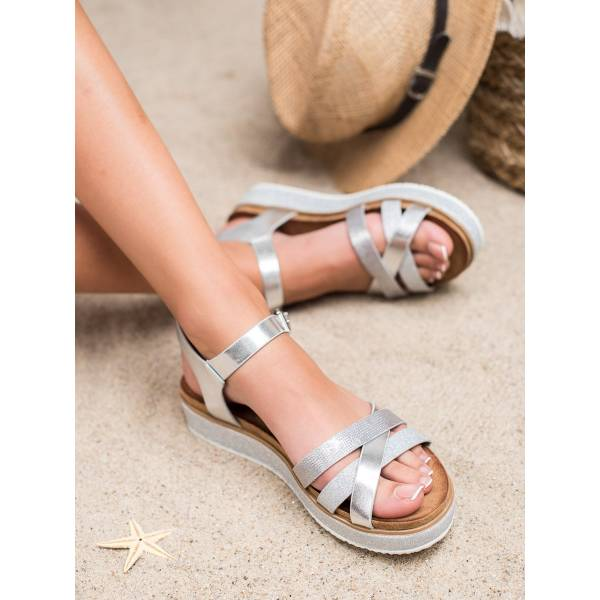 BESTELLE дамски ниски сандали с каишки