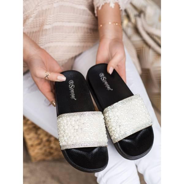 SEASTAR дамски чехли с перли