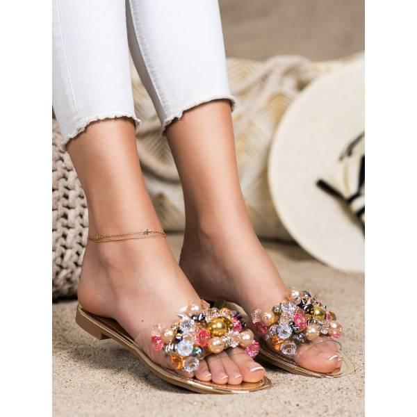 SABATINA дамски чехли с камъни