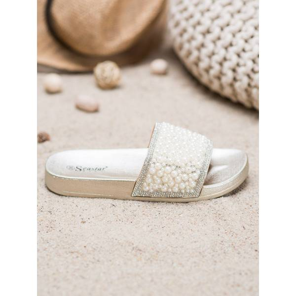 SEASTAR дамски чехли с декоративни перли