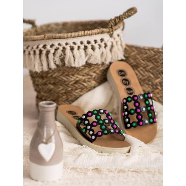 SHELOVET дамски чехли с ефектен дизайн
