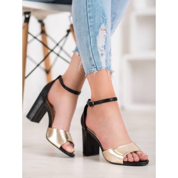 SMALL SWAN дамски елегантни сандали с ток