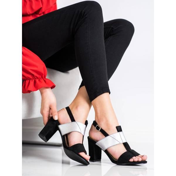VINCEZA дамски сандали на средно висок ток