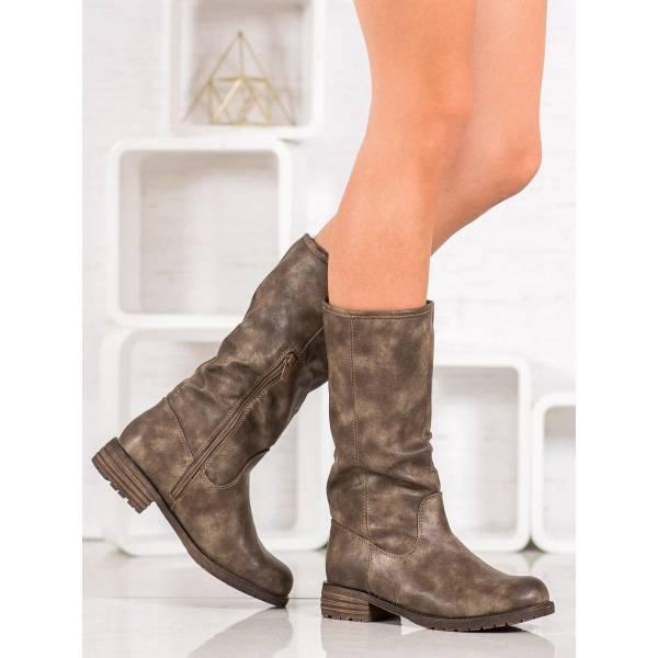 SDS дамски ботуши от еко кожа