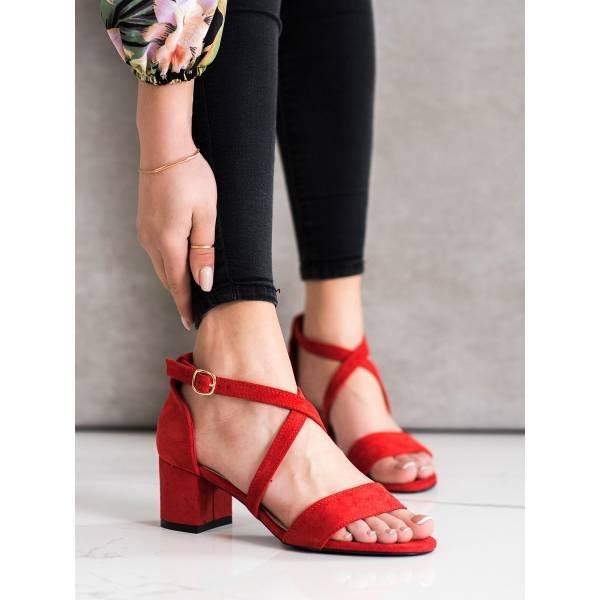 SERGIO LEONE дамски елегантни сандали с нисък ток