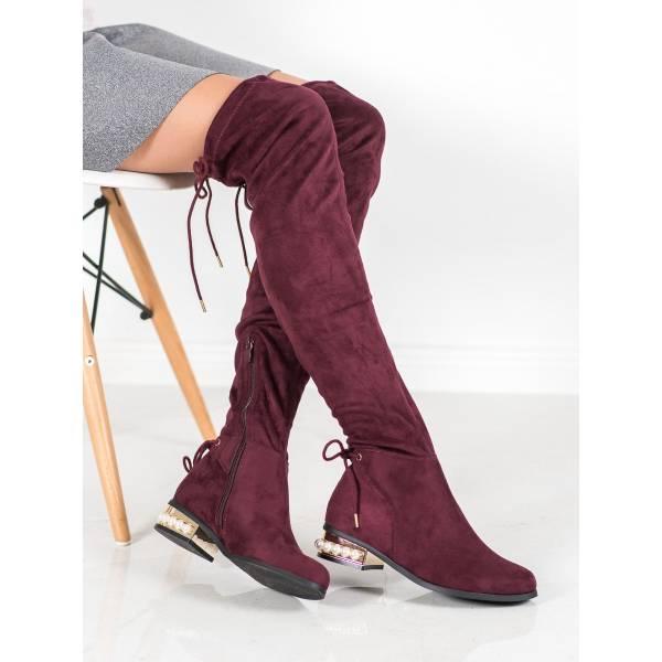 CM PARIS дамски чизми с нисък ток