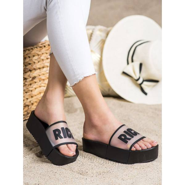 SMALL SWAN дамски чехли на платформа