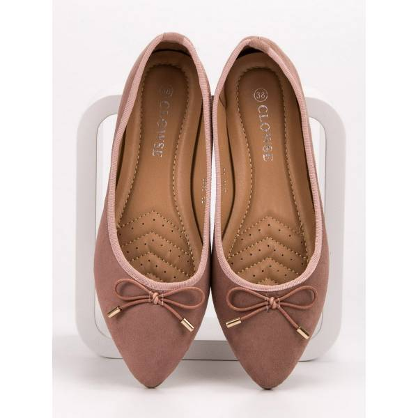 CLOWSE дамски ниски велурени обувки