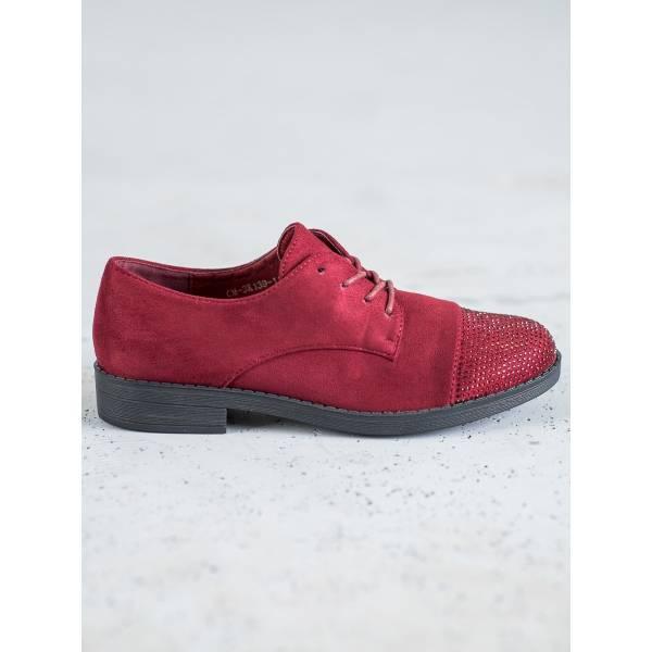 BEST SHOES дамски ниски обувки с връзки