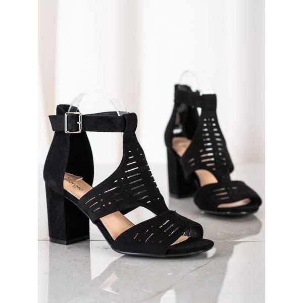 SERGIO LEONE дамски сандали на средно висок ток